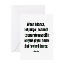 3-Why I Dance Lg Greeting Cards