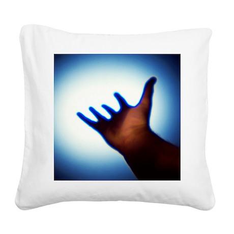 Reaching out, conceptual image - Square Canvas Pil