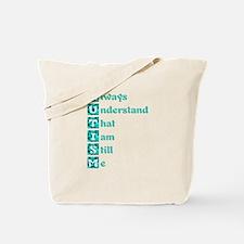 Autism Poem Puzzle Blue Tote Bag