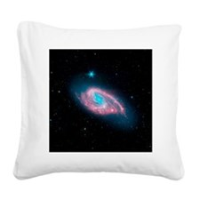 Spiral galaxy M66, infrared image - Square Canvas