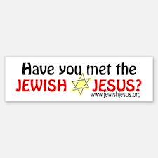 Jewish Jesus Bumper Car Car Sticker