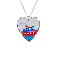 Blue and Red Boat Necklace