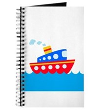 Blue and Red Boat Journal