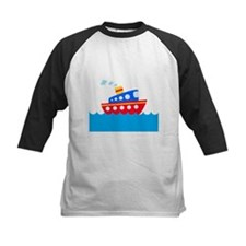 Blue and Red Boat Tee