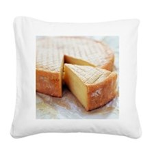 Camembert cheese - Square Canvas Pillow