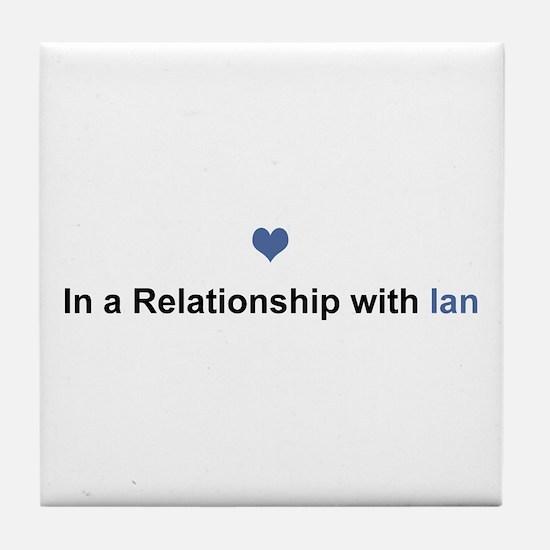 Ian Relationship Tile Coaster