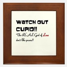 Watch out Cupid!! Framed Tile