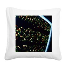 DNA microarray - Square Canvas Pillow