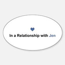 Jen Relationship Oval Decal