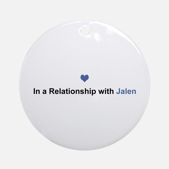 Jalen Relationship Round Ornament