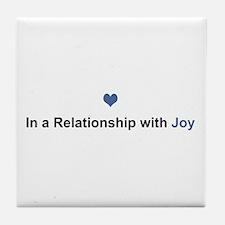 Joy Relationship Tile Coaster