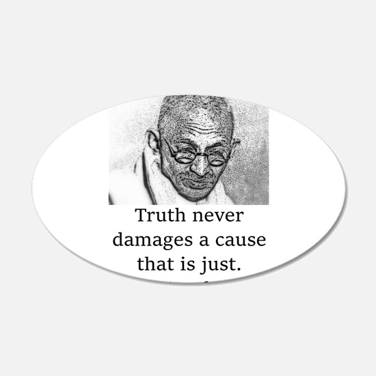Truth Never Damages - Mahatma Gandhi Wall Decal