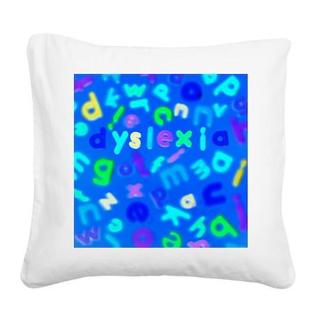 Dyslexia - Square Canvas Pillow