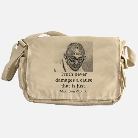 Truth Never Damages - Mahatma Gandhi Messenger Bag