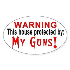 Protected By: My Guns! Oval Decal