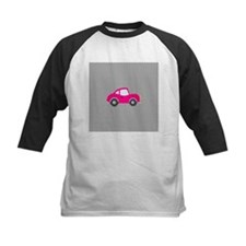 Pink Car on Black and White Dots Tee