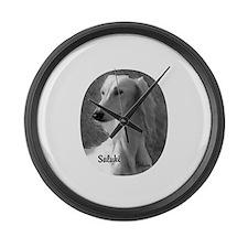 Saluki Large Wall Clock