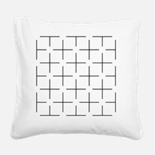 Ehrenstein illusion - Square Canvas Pillow