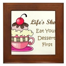 Life's Short Framed Tile