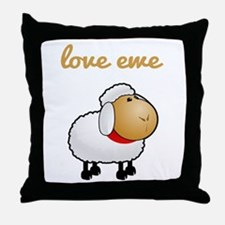 Love Ewe Throw Pillow