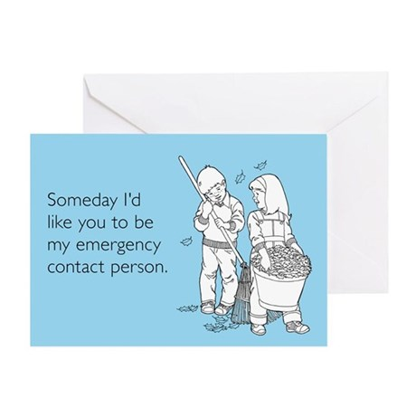 Emergency Contact Greeting Card