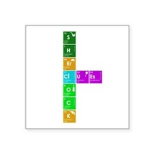 "Elementary! Square Sticker 3"" x 3"""