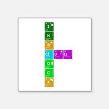 "Elementary! Square Sticker 3"" x 3"""