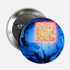 Brain MRI scan with Alzheimer's QR code - 2.25' Bu