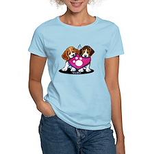 Valentine Beagle Duo T-Shirt