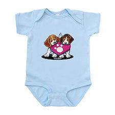 Valentine Beagle Duo Infant Bodysuit