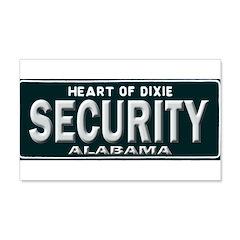 Alabama Security Wall Decal