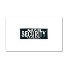 Alabama Security Car Magnet 20 x 12