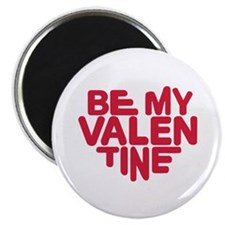 """Be my valentine red heart 2.25"""" Magnet (10 pack)"""