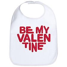 Be my valentine red heart Bib