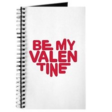Be my valentine red heart Journal
