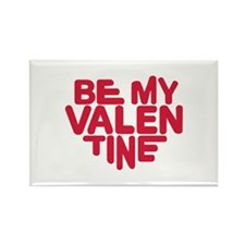 Be my valentine red heart Rectangle Magnet (10 pac