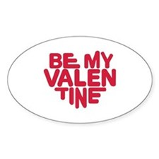 Be my valentine red heart Bumper Stickers