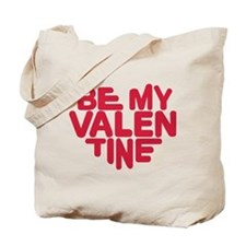 Be my valentine red heart Tote Bag