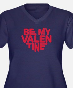Be my valentine red heart Women's Plus Size V-Neck