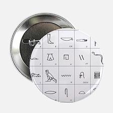 Phonetic Egyptian hieroglyphs - 2.25' Button (10 p