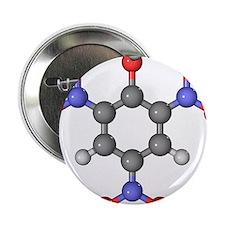 Picric acid explosive molecule - 2.25' Button (10