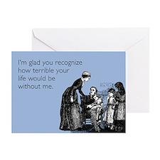 Terrible Life Greeting Card
