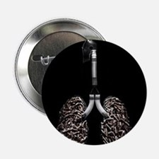 Cigarette filled lungs - 2.25' Button (10 pack)