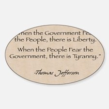 Rectangle Decal: Jefferson Government Decal