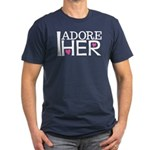 Mens I Adore Her Matching Fitted T-Shirt