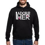 Mens I Adore Her Matching Hoodie (dark)