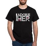 Mens I Adore Her Matching Dark T-Shirt