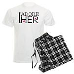 Mens I Adore Her Matching Men's Light Pajamas