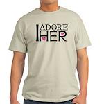 Mens I Adore Her Matching Light T-Shirt