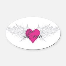 Zoie-angel-wings.png Oval Car Magnet